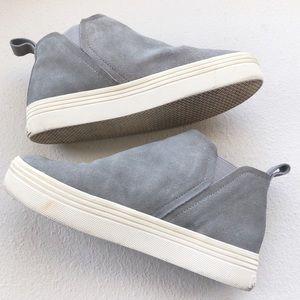 Dolce Vita Grey Tasha High Top Sneakers, Sz 7.5